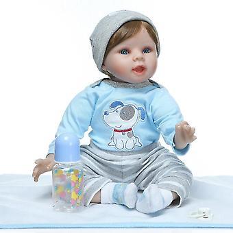 Wedergeboorte pop 55cm siliconen herboren baby poppen baby pop levend realistische boneca bebe levensechte echte meisje pop herboren verjaardag kerstmis schattig cadeau