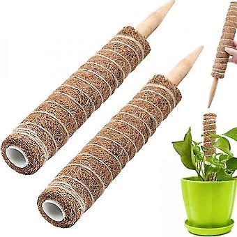 2pcs Moss Pole For Climbing Plant Support, Plant Pole(50cm)