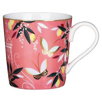Sara Miller Orchard Mug, Coral