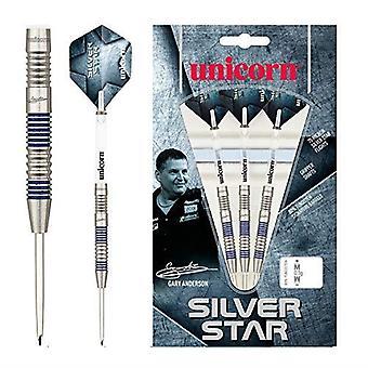 Enhörning Dart Silver Star 3 Gary Anderson 80% Volfram Precision Steel Tip Set