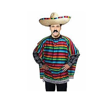 Mexican poncho spanish costume wild west cowboy party bandit fancy dress fiesta