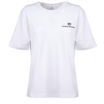 Chiara Ferragni Logo Basic White T-shirt