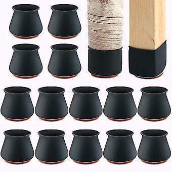 Silikon Stuhl Beinprotektoren mit Filz für Holzböden 24 Stück
