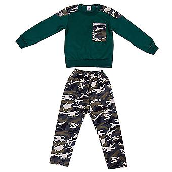 Kids Boy Camo Clothes Long Sleeve Tops Trousers Set Outfit Tracksuit