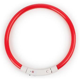 Rechargeable Led Collar For Dogs, Flashing, Glowing, With Usb Charging Cable
