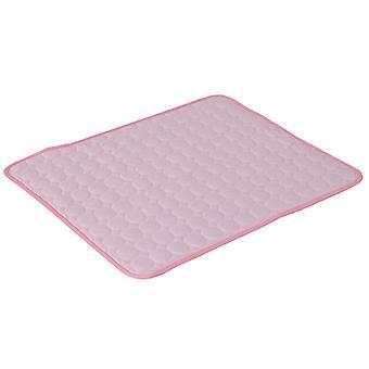 Chladiaci vankúš pre domáce zvieratá sa ľahko čistí a vysuší, vhodný pre mačky a psy (ružový)