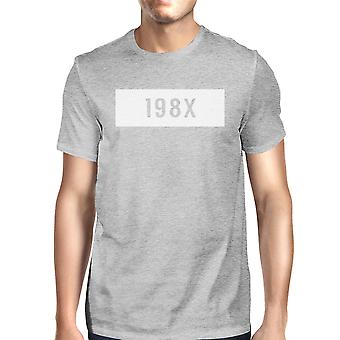 198 X Mens szary T-Shirt graficzny zabawny prezent pomysły urodziny prezent