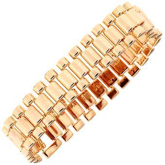 Iced out hip hop bling bracelet - LINK 15mm rose gold