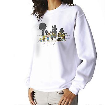 Yellow Fever the Simpsons Walking Dead Women's Sweatshirt