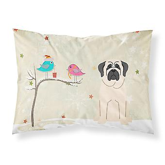 Christmas Presents between Friends Mastiff White Fabric Standard Pillowcase