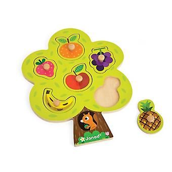 Janod Fruit Tree Chunky Wooden Puzzle