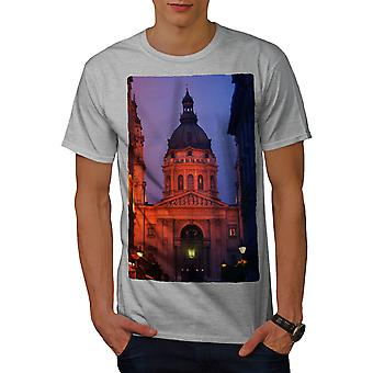 Kirche von Budapest Männer graut-Nachthemd | Wellcoda