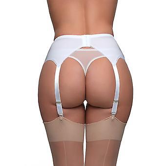 Colore solido bianco giarrettiera cintura 4 cinturino reggicalze di sogni in nylon NDL6 donne
