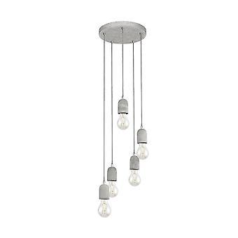 EGLO betong hängande tak ljus taklampa 5 lampor