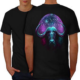Bull tilaa Galaxy eläinten miesten BlackT-paita takaisin | Wellcoda