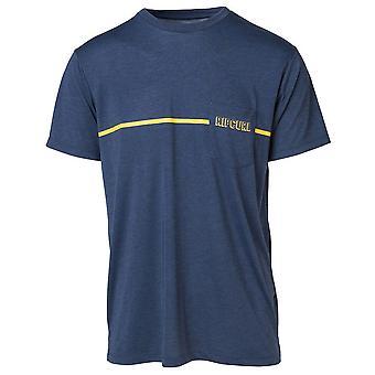 Rip Curl Zlicut VP korte mouwen T-shirt in blauw Indigo gemêleerd