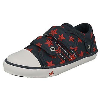Per bambini ragazzi/ragazze Startrite Casual scarpe Zip taglia UK - Navy Canvas - 12.5F - EU Taglia 31 - US dimensioni 13,5