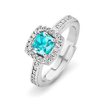 Orphelia sølv 925 Ring prinsesse Zirconium Topaz ZR-7199/til