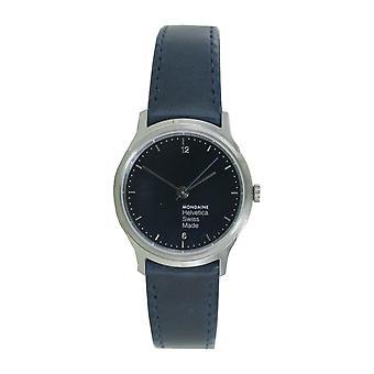 Mondaine ladies watch Helvetica No1 wristwatch MH1. L1140. LD leather