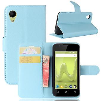Pocket tegnebog premium blå-til WIKO solrige 2 beskyttelse ærme tilfælde dække pose nye