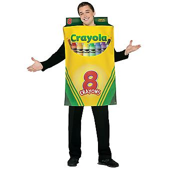 Crayola Box 8 Crayons Colors Art School Birthday Party Womens Mens Costume OS