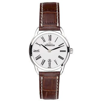 Michel Herbelin Ladies Equinox Roman Brown Strap 16977/01GO Watch