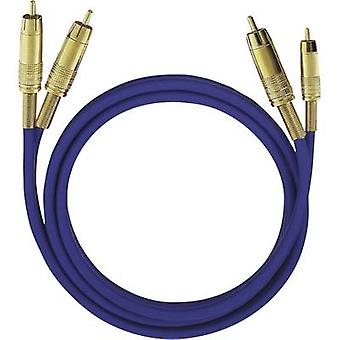 RCA Audio/phono Cable [2x RCA plug (phono) - 2x RCA plug (phono)] 10 m Blue gold plated connectors Oehlbach NF 1 Master