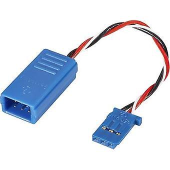 Servo Deluxe Y kabel [2 x Futaba plug - 1 x Futaba socket] 100 mm 0,5 mm² Reely