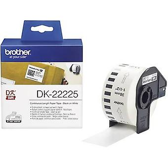 Brother DK-22225 etikett rulla 38 mm x 30,48 m papper vit 1 rullar Permanent DK22225 All-purpose etiketter