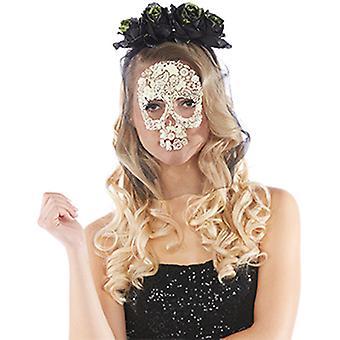 La Catrina hoofdband en masker accessoires carnaval Halloween schedel