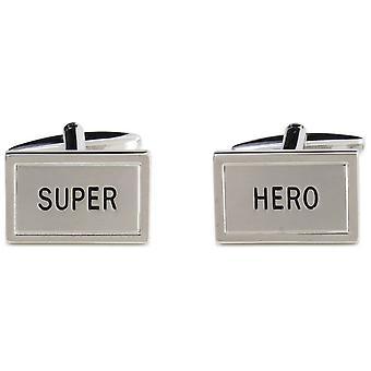 Zennor Super Hero Cufflinks - Silver/Black
