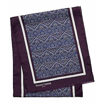 Simon Carter Printed Paisley Scarf - Purple