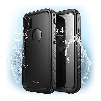 iPhone XS Max Waterproof Case, [Omni] Shockproof Snowproof Dirtproof Case with Built-in Screen Protector 2018 (Black)