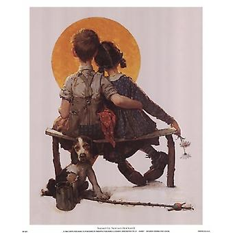 Sunset Poster Print by Norman Rockwell (12 x 15)