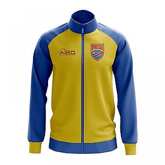 Democratic Republic Of Congo Concept Football Track Jacket (Yellow)