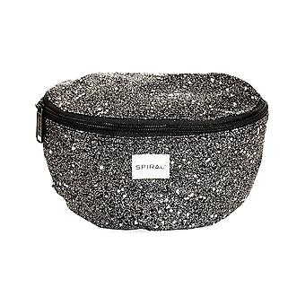 Spiral Black Stardust Bum Bag