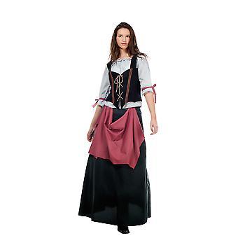 Hospita dames kostuum verstrekking gastvrouw middeleeuwse dame kostuum vrouw