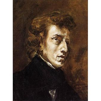 Frederic Chopin, Eugene Delacroix, 46x38cm