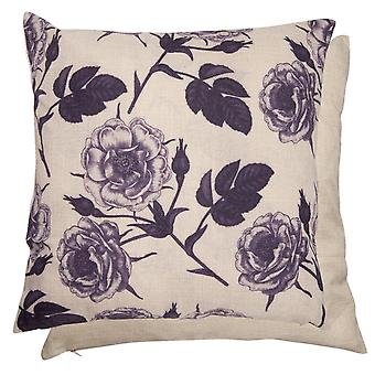 Clayre & EEF KT021. 136 pillow cover with linen and flowers motif 40 x 40 cm