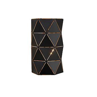 Lucide Otona moderne Halbrund Metall schwarz Wandleuchte