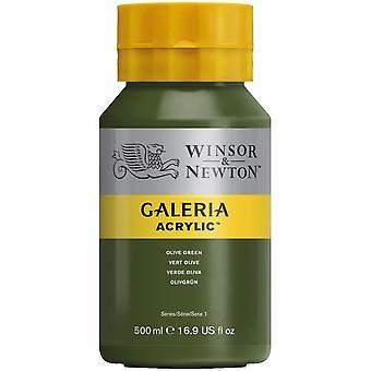 Winsor & Newton Galeria Acrylic Paint 500ml - Olive Green