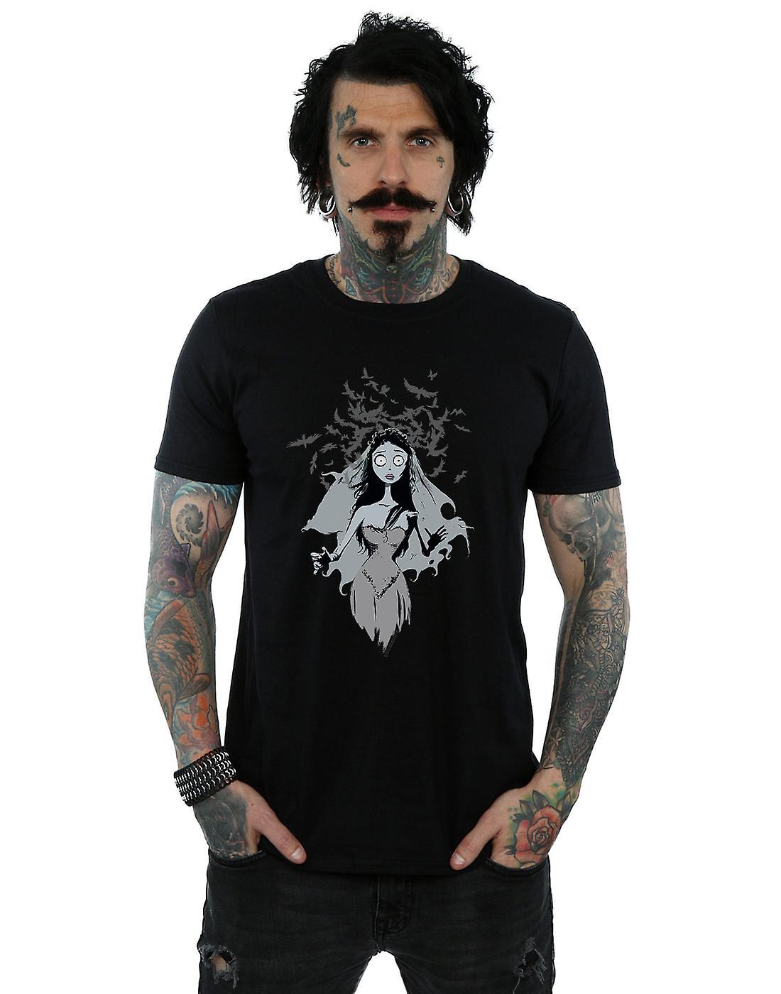 Corpse Bride Men's Crow Veil T-Shirt