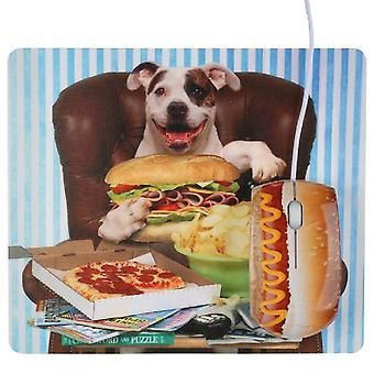 USB mouse and mouse pad Hot Dog