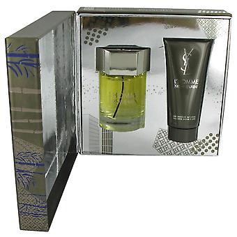 Yves Saint Laurent L'Homme Gift Set 60ml EDT + 50ml Shave balsami + 50ml kauttaaltaan suihkugeeli
