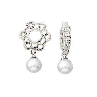 Storywheels Silver & Diamond Pearl Dangle Charm S236PRL