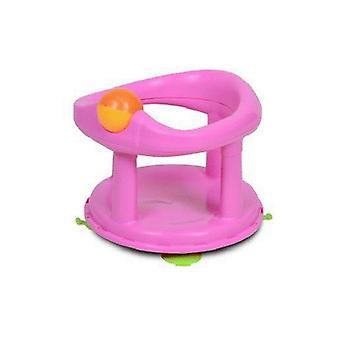 Segurança 1º assento de banho giratório rosa