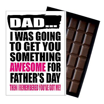 Funny Father's Day Gift Silly Chocolate Present Rude Card For Dad DADIYF126
