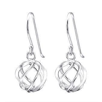Knot - 925 Sterling Silver Plain Earrings - W14099x