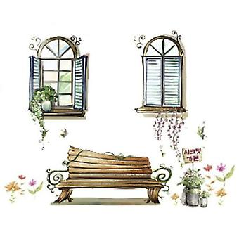 Wellindal Decorative Vinyl Window And Bench- HCN1078-87