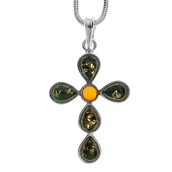 InCollections 242A205006340 - Chain with women's pendant with amber - silver sterling 925 - 420 mm